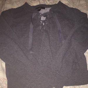Grey Derek heart sweater